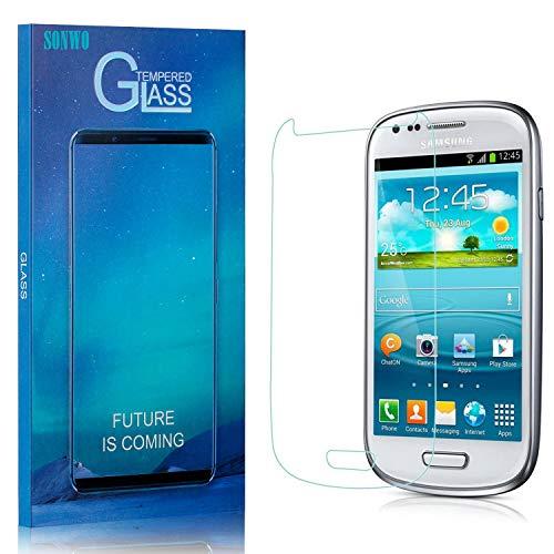 3 Pezzi Vetro Temperato per Galaxy S3 Mini, SONWO Pellicola Protettiva per Samsung Galaxy S3 Mini Vetro Temperato, Anti graffio, Alta Definizione