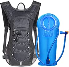 Unigear Hydration Pack Backpack with 70 oz 2L Water Bladder for Running, Hiking, Cycling, Climbing, Camping, Biking (Gray)
