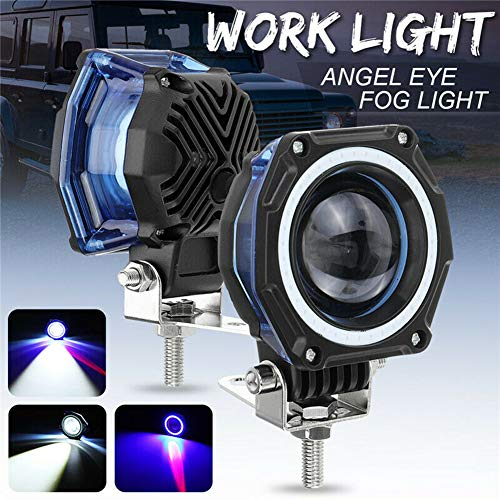 Best Price UTUT LED Work Light IP67 20W 1800lm Angel Eye 2LED+COB Work Light 4WD Car Off-Road Drivin...