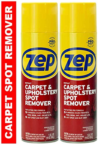Zep Instant Carpet and Upholstery Spot and Stain Remover Aerosol (Pack of 2)