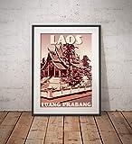 guyfam Vintage Poster Laos - Luang Prabang - Wat Ho Phra