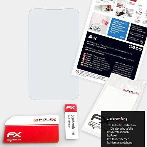 atFolix Schutzfolie kompatibel mit Huawei Ascend Y200 Folie, ultraklare FX Displayschutzfolie (3X) - 2