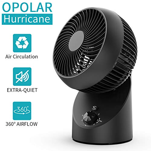 OPOLAR 2020 Whole Room Air Circulator Fan with 360°Oscillating, Extra Quiet Operation, Replace Floor Table Tower fan for Bedroom Air Circulating- Black, ACF101