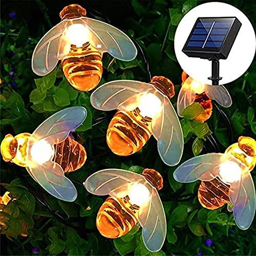 N\C 3x3M Luz de Cortina Solar Luz de jardín de Hadas 300 LED 8 Modos Control Remoto Cascada a Prueba de Agua Luz de Hadas para terraza Fiesta en el jardín Boda Cumpleaños Vacaciones (cálido)