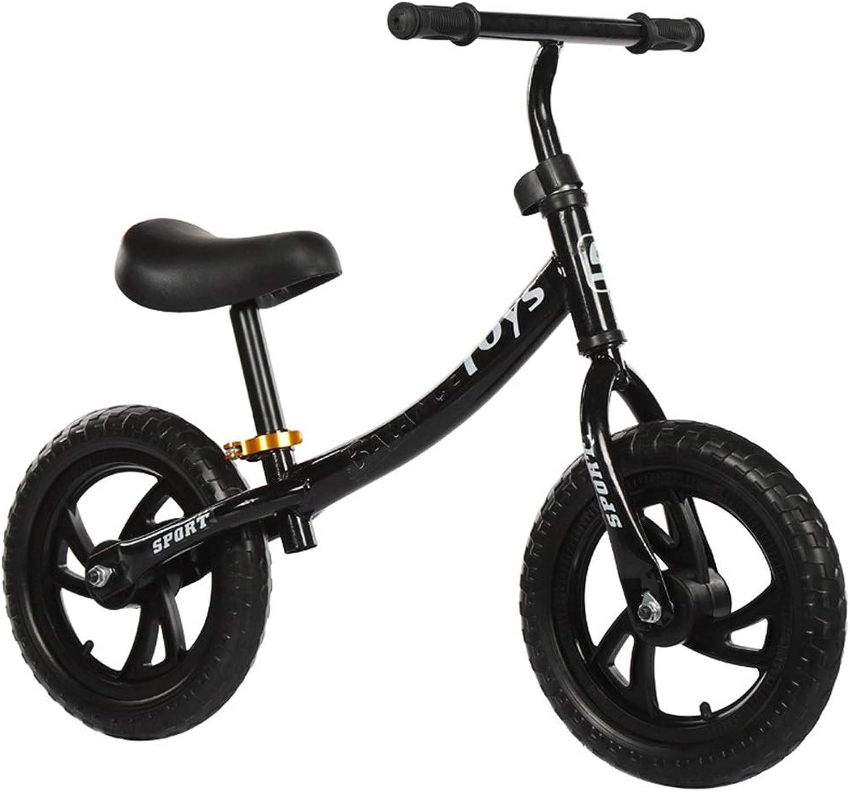 Balance Fahrrad Aluminium Laufrad Für Kinder Sport Laufrad Kein Pedal Fu Fahrrad Mit Kohlenstoffstahlrahmen Einstellbarer Lenker Und Sitz 12 Zoll Kinderfahrrad ( Farbe   Schwarz , Gre   12 inches )