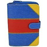 Bind DUO-Systemplaner A6 inklusive Systemeinlage und Kalender 1 Woche 2 Seiten,Terminplaner, Managerplaner,Systemplaner PU multicolor blau gelb rot T45