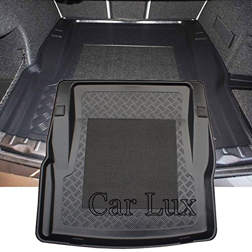 Car Lux AR02248 - Alfombra Bandeja Cubeta Protector cubre maletero antideslizante para BMW Serie 3 sedan F30 desde 2011-