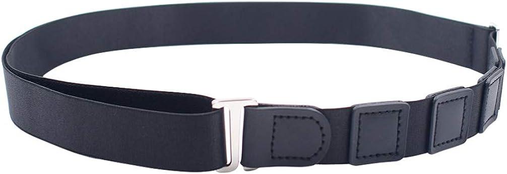 ARTIBETTER Shirt Stays Black Shirt Lock Belt Adjustable Elastic Shirt Holder Keeps Shirt Tucked in for Police Military