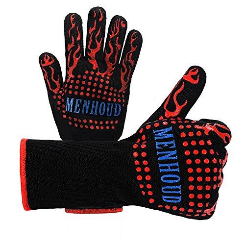 Premium Grillen Mikrowelle Handschuhe Verbrühschutz Fäustlinge/Backformen Hohe Temperatur Resistente Handschuhe Silikon-Isolierung 5 Fingerhandschuhe