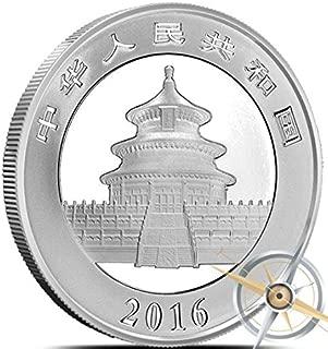 2016 CN Chinese Silver Panda yuan MS69 NGC