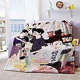 Sweetundrro17 Anime Haikyuu Kuscheldecke, Flanell Flauschige Decke 100x150 cm, Kuschelige Wohndecke/Sofadecke/Reisedecke(Group)