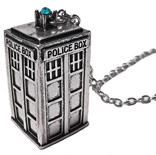 Orion Creations Dr Who Tardis Silber AnhŠnger Halskette
