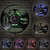 MASERTT Reloj de Pared de Vinilo LP Inspirado en Buceo Libre bajo el...