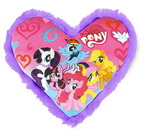 Joy Toy- My Little Pony Cuscino a Cuore in Peluche, Colore Bunt, 33 x 33 cm, 95007