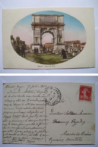Antigua Postal - Old Postcard : Arco di Tito - ROMA
