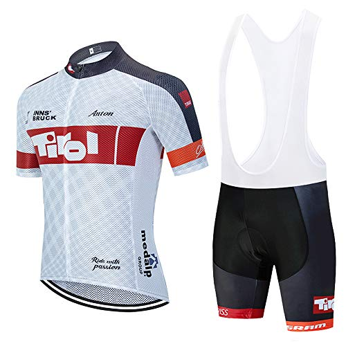 Bike Ensemble de Maillot de Cyclisme pour Homme, Ensemble de Cycliste Respirant pour Homme avec Pantalon de Cyclisme et Coussin de siège 3D pour VTT