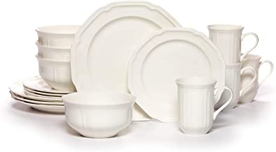 Mikasa 5224778 Antique White 16-Piece Dinnerware Set, Service for 4