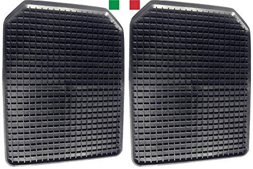 Cenni 35718 Lot de 2 Tapis Voiture en Caoutchouc avec Bords Relevés 53 x 42, Universels, Sauve Moquette, Made in Italy