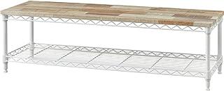 アイリスオーヤマ テレビ台 ミドルタイプ ホワイト 幅約101cm 奥行101cm 高さ41.13cm 32型 メタルラック オープン 組み立て 耐荷重30kg CML-10302