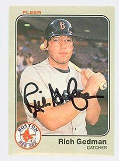 Rich Gedman AUTOGRAPH 1983 Fleer Boston Red Sox