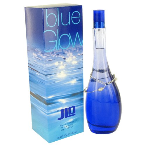 Blue Glow by Jennifer Lopez Eau De Toilette Spray 3.4 oz / 100 ml for Women + MANIFESTO ROSELLINI by Isabella Rossellini Vial (sample) .04 oz for Women