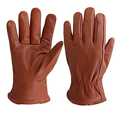 Deerskin Leather Shooting Gloves for industrial production/Riding/Driving/Gardening/Farm Hunting Gloves - Extremely Soft and Sweat-absorbent - Perfect Fit for Men & Women (Medium)
