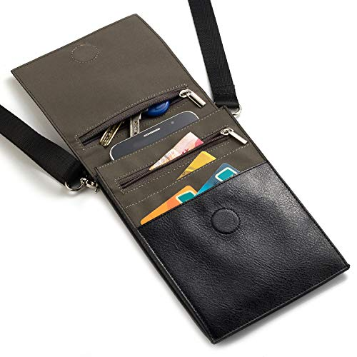Handy Schultertasche, Phone Tasche PU Leder Mini Umhängetasche Messenger Bag Schulter...