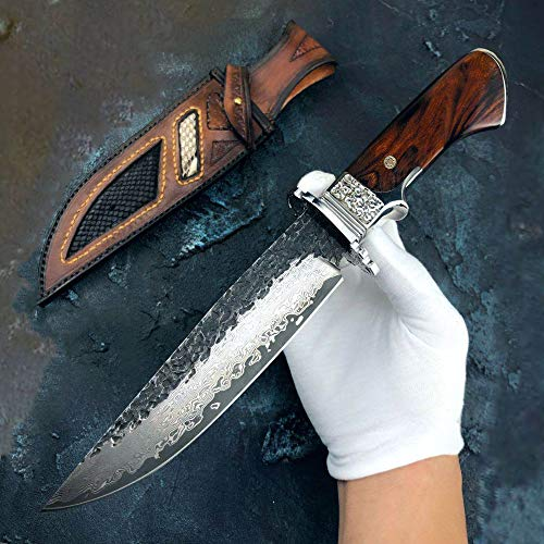 DELLINGER Schmuggler vg-10 & Damastmesser & Damaststahl Messer & Outdoor Damastmesser 150 mm Klinge