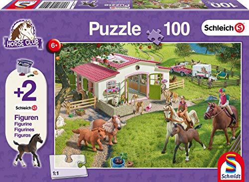 Schmidt Spiele Puzzle 56190, lila, Ausritt ins Grüne, 100 Teile