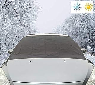 Xuenisidan Auto Windschutzscheibe Abdeckung Eisschutzfolien, Frontscheibe Abdeckung Winterschutz für Winter(215 * 125cm, Schwarz)