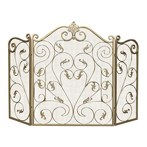 Especialidades de diseño Pantalla de chimenea de oro pequeña: decoración de desplazamiento,...
