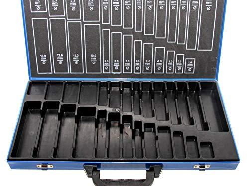 PeTools, Leerbox für Bohrer-Set (230tlg.) Spiralbohrer Metallbohrer Stahlbohrer 1-13mm, Aufbewahrungsbox
