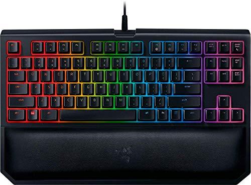 Razer BlackWidow TE Chroma v2 Mechanical Gaming Keyboard: Yellow Key Switches - Linear & Silent - Chroma RGB Lighting - Magnetic Wrist Rest - Programmable Macro Functionality - Matte Black (Renewed)