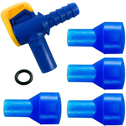 Aquatic Way Bite Valve Replacement Mouthpieces, Shutoff Valve, and Tube O-Ring Kit for Hydration Bladder and Water Backpack Bladder Reservoir Compatible with Most Brands