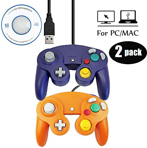 Mekela USB Wired Controller for Gamecube, Classic Gamepad for NGC Windows PC MAC (USB Purple and...