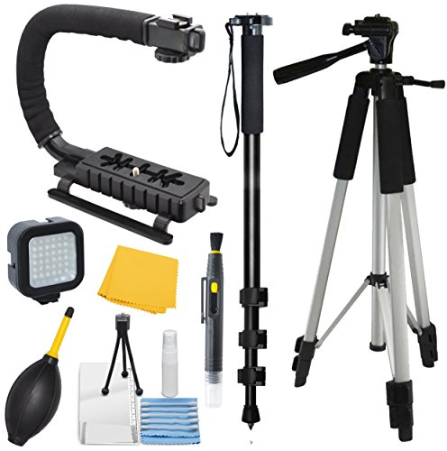 Adventurers Professional Exploration kit for Sony Alpha a6000, Bundle Contains: 72' Monopod - 59' Tripod - Stablilizer Grip - Plus More!