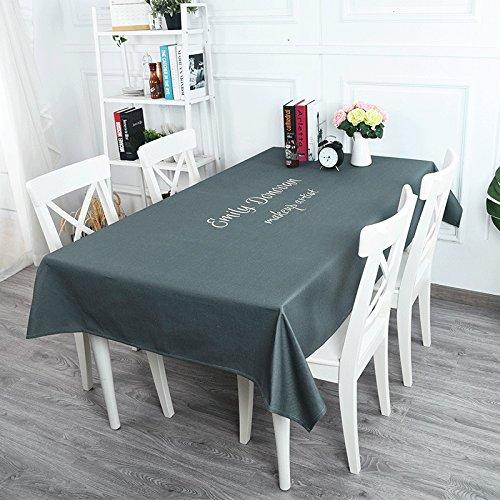 WEN-Nappes Nappe Nappe à l'épreuve des poussières de style européen Nappe à usages multiples Coton et lin Table de salle à manger familiale Comptoir de télévision Thé Housse de table Tissu