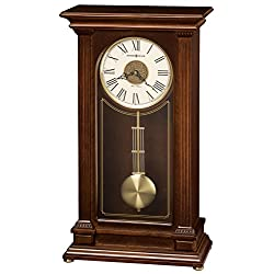 Howard Miller Stafford Mantel Clock 635-169 – Cherry Wood Bordeaux with Quartz, Triple-Chime Movement