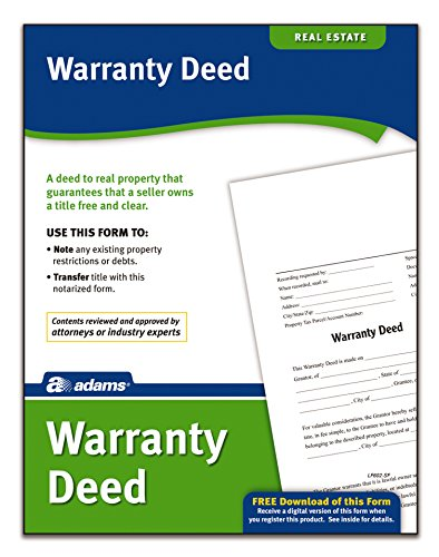 Adams Warranty Deed, Forms and Instructions (LF602)