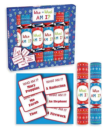 Anker Pack van 6 Mini Wat ben ik spel kerst Crackers familie kinderen Kerstmis Crackers