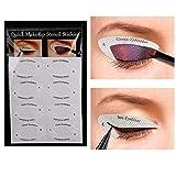 sjqc9561 4 Hoja De Sombra De Ojos Profesional Shield Eyeliner Plantillas Ojos Ahumados O...