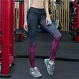 ArcherWlh Pantalones De Yoga,Pantalones de Yoga de impresión Digital explosiva Caderas Que Adelgazan Adelgazar Deportes Fitness Correr Leggings-Púrpura_S