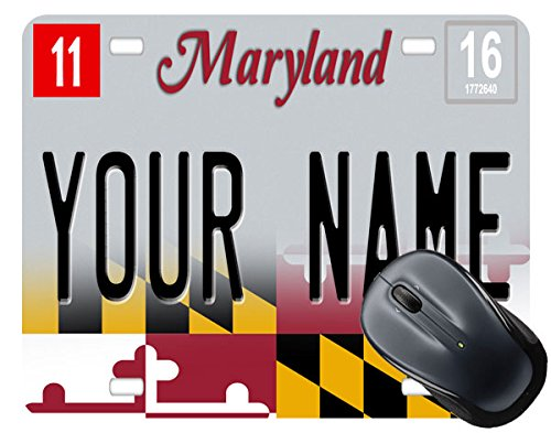 BleuReign(TM) Personalized Custom Name 2017 Maryland State License Plate Mouse Pad