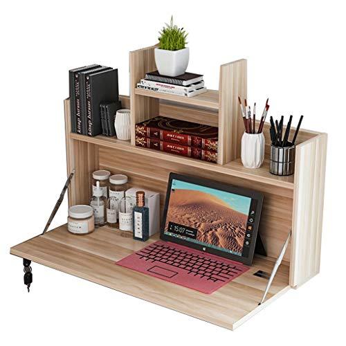 Tafels vouwen op bed, bureau voor college slaapzaal bed, lui voor opknoping slaapkamer, computer voor onderste stapelbed, vouwen 80 * 46 * 40cm Wood Color
