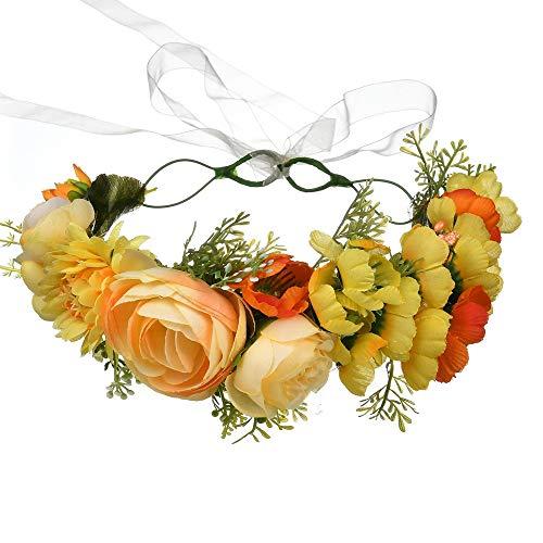Garland Headbandbride Headdress kust strand accessoires slinger lint bruiloft fotografie hoofd bloem