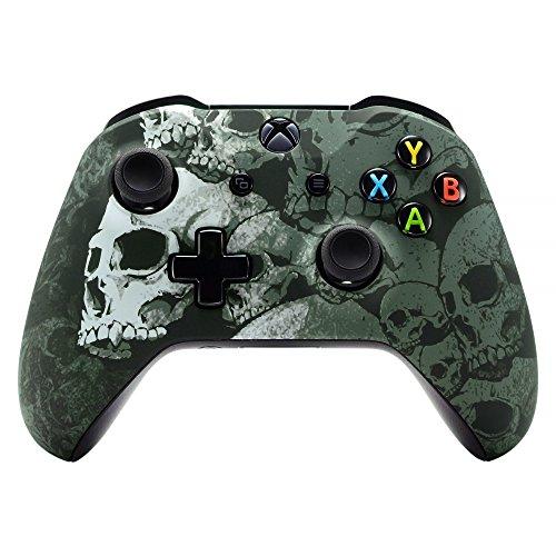 eXtremeRate Case für Xbox One S/X Controller,Hülle Gehäuse Case Schutzhülle Cover Oberschale Skin Housing Kit Schale Shell für Xbox One S/Xbox One X Controller(Schädel)
