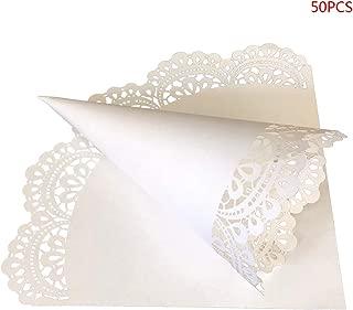 Hacloser 50Pcs Wedding Petal Cones Party Favors Confetti Cones for Petals Paper Wedding Flower Petal Cones Food Cone Bouquet Candy Chocolate Bags Boxes