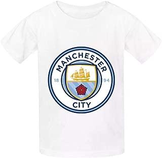 EERFIY Kid's Manchester City FC Logo 3D Print Crewneck Short Sleeve T-Shirts Casual Soft Tops