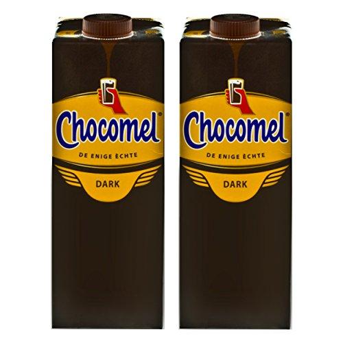 Chocomel Dark Choco Kakao Karton, 2er Set, Trinkschokolade, Holland Schoko, Dunkle Trink Schokolade, 1 L