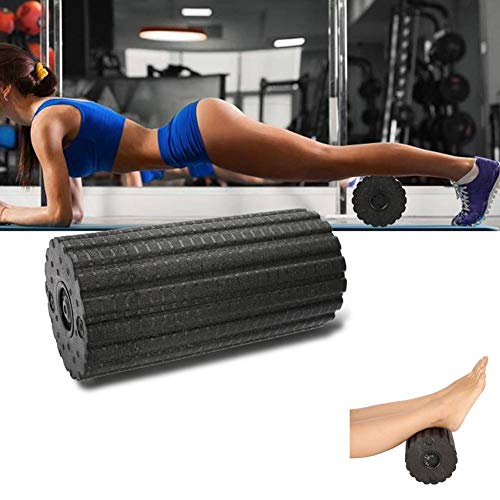 lahomie Vibrating Foam Roller, Rechargeable Muscle Massage Roller 4 Level High Intensity Exercise Tool for Yoga Gym Training Deep Tissue Massage Pain Relief, UK Plug
